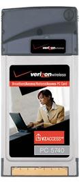 Audiovox PC5740 EV-DO PC Card for Verizon Wireless